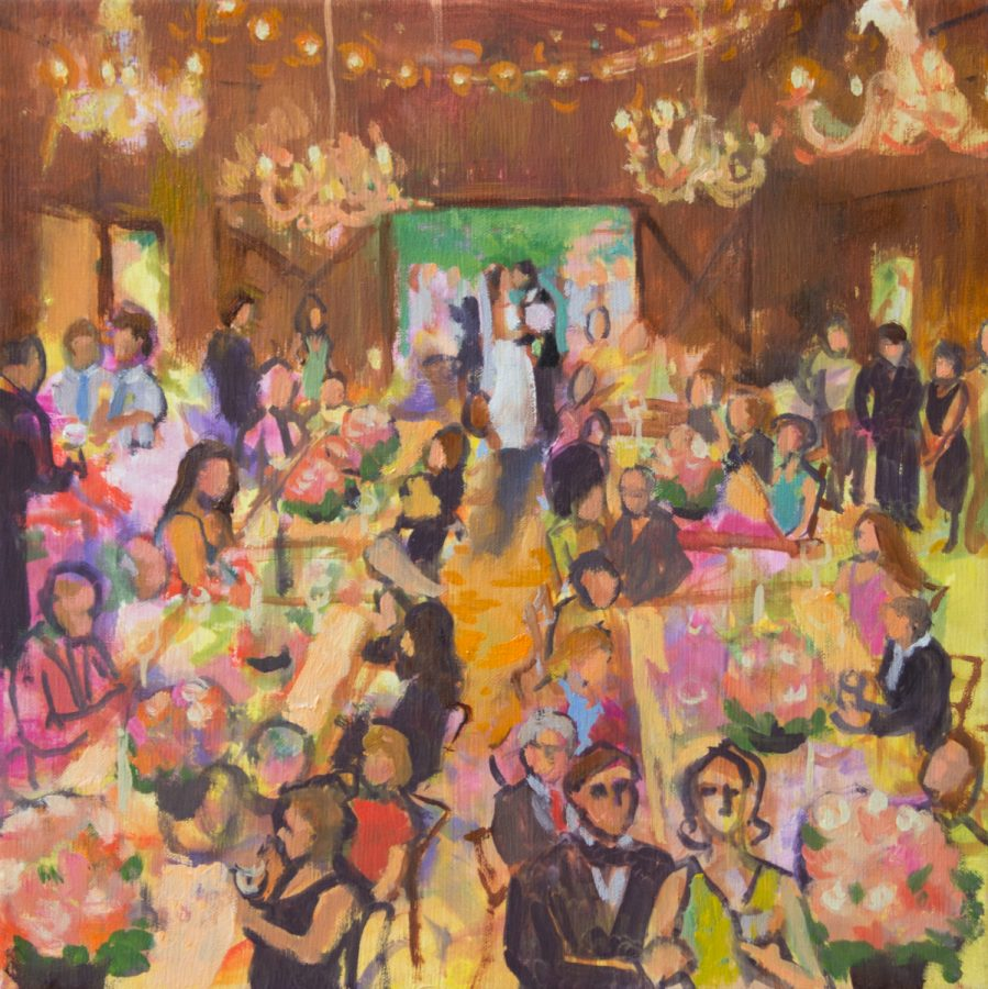 Event Painting Barn Wedding
