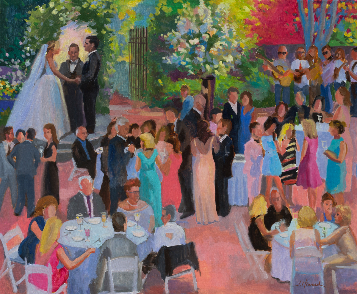 Holly Hedge Estate, Cocktail Hour-Live-Event-Painting