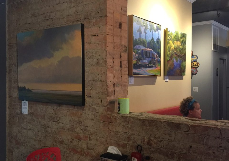 Cafe A la Mode painting exhibit by Janet Howard-Fatta