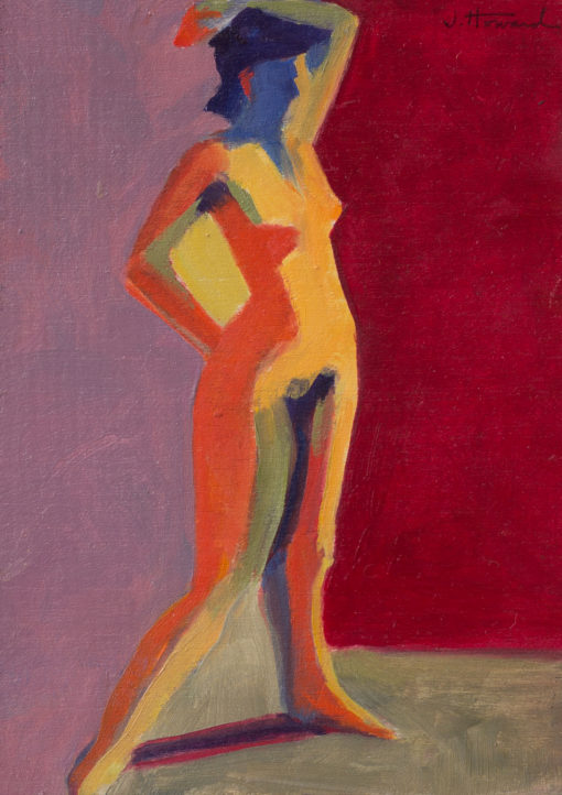 Untitled 12, oil on panel, 5 x 7, figure study